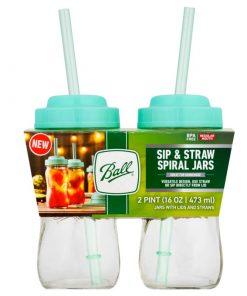Ball® Sip & Straw Spiral Jars 2 stk